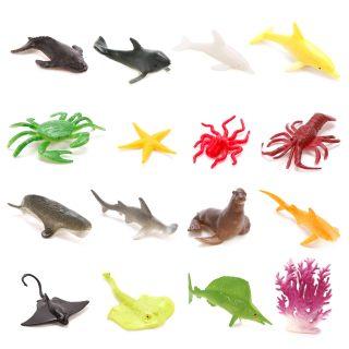 Набор фигурок Морские животные, 18 шт., аксессуары, пакет