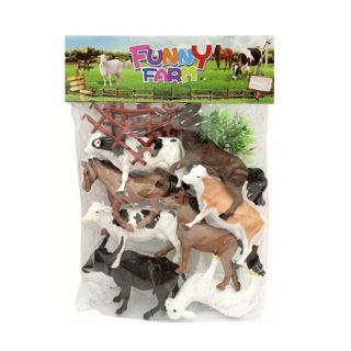Игровой набор Домашние животные, 8 фигурок, аксессуары, пакет
