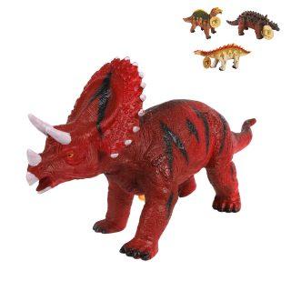 Динозавр мягкий, звук, размер 30*16см, эл.пит.AG13*3шт.не вх.в комплект, открыт.коробка