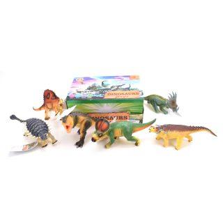 Динозавр со звуком в асс.,эл.пит. LR41*2шт. вх.в компл., дисплей
