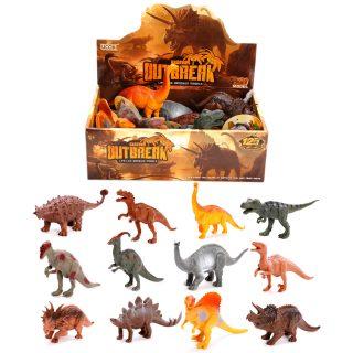 Динозавры Dino outbreak в ас-те, 14-17см, дисплей.