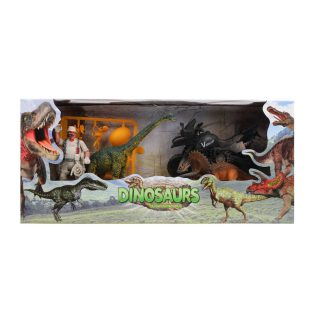 Игровой набор Доисторический парк, фигурки 3 шт., мотоцикл, аксессуары, коробка