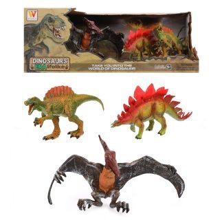 Набор динозавров, 3 шт., коробка