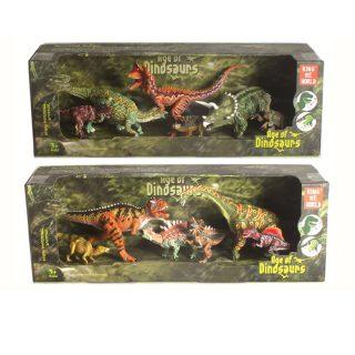 Набор динозавров, 6 фигурок, в асс., кор.