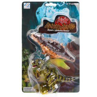 Набор фигурок Мир динозавров, 2 шт., с зав.механизмом, блистер