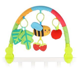 """Дуга """"Пчелка"""": 4 съем. игр. крепл. прищепка, 3в1 кроват., коляс., автокрес."""