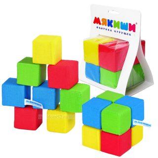 Мякиши Игрушка Кубики 4 цвета