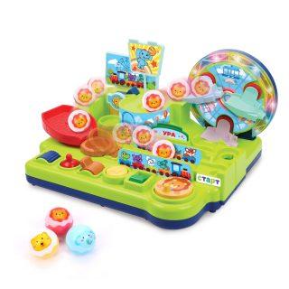 """Развивающий игровой центр """"Лунапарк"""" со светом и музыкой: провести шарики через парк с помощью панели управления"""