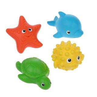 Набор для купания №7 рыба-еж, морская звезда, черепаха, дельфин