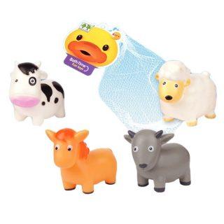 Набор игрушек для купания, 4 шт., сетка