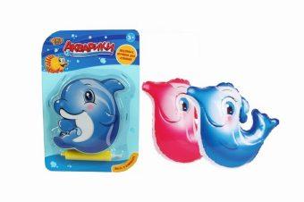 Дельфин-неваляшка надувной для купания, блистер