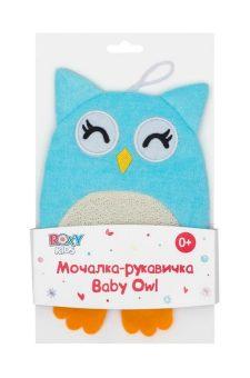 Махровая мочалка-рукавичка Baby Owl