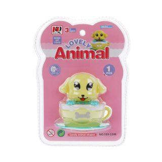 Игрушка заводная Собачка в чашке, блистер