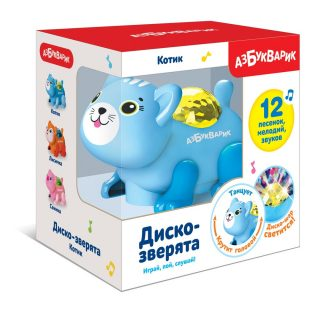 Муз. игрушка Котик Диско-зверята
