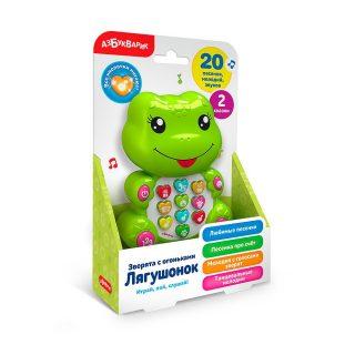 Муз. игрушка Лягушонок с огоньками