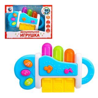 Музыкальная игрушка Е-Нотка, свет, мелодии, звуки жив., батар. не вх.в компл., в ассорт., кор.