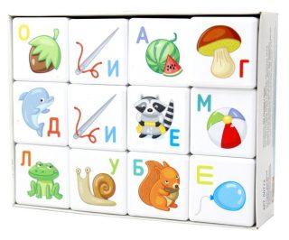 Кубики Азбука 12 шт
