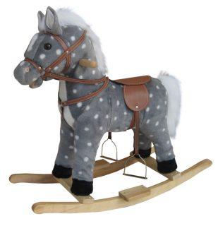 Качалка Лошадь в яблоках 62 см, звук, подвижные рот и хвост,эл.пит.AA*3шт. не вх. в компл., кор.