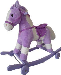Лошадка-каталка 71 см, звук, открывает рот, машет хвостом, эл.пит.AA*2шт. не вх.в комплект
