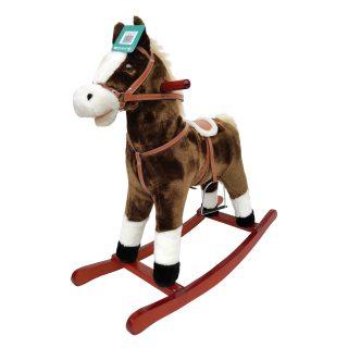 Лошадка-качалка 78 см, мелодия, звук галоп., открывает рот, машет хвостом, эл.пит.AA*3шт. не вх.в комплект