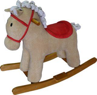 Лошадка-качалка Мультик беж. 65 см, звук, кор.
