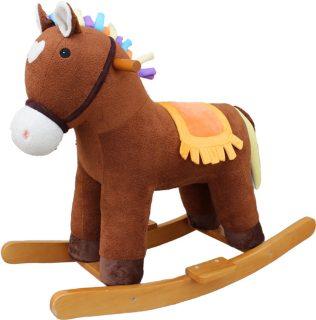 Лошадка-качалка Мультик коричн. 65 см, звук, кор.