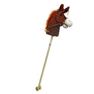 Лошадка-скакалка с колесиками, плюш, 95 см, звук галопа