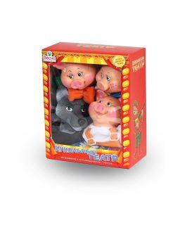 Кукольный театр Весна 4 персонажа с ширмой 2