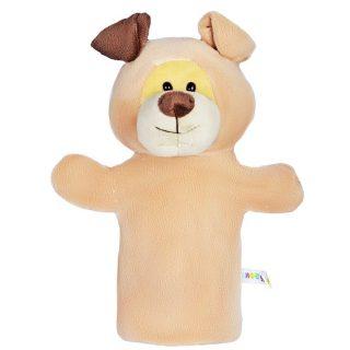 Желтый щенок, кукла на руку, 25 см