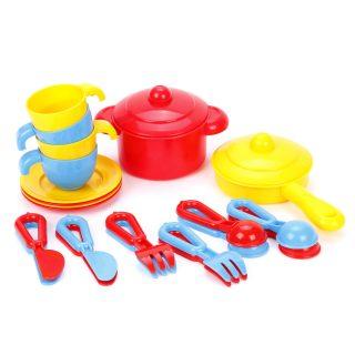 Набор детской посуды TOP chef с корзинкой №2 на 4 персоны