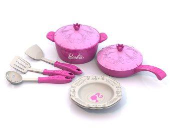 Набор кухонной посудки Барби, 9 предметов в сетке