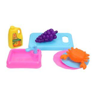 Набор посуды с продуктами 7 предм., сетка