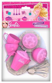 Набор чайной посудки Барби, 18 предметов в пакете
