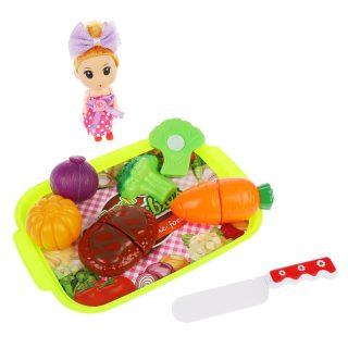 Набор продуктов для резки с куклой в наборе, в компл. 12предм., пакет