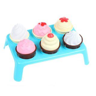 Игровой набор Лакомка (7пр.) ( мороженое 3шт., кекс 3шт., подставка)