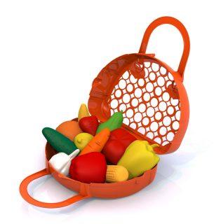 Набор Фрукты, овощи, 12 предметов в сумке-корзинке