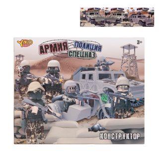 Игр.набор Армия, полиция, спецназ, фигурка 9 см, машина, оружие, деталей 33/34шт., в ассортименте