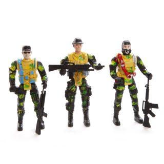 Набор Военный, солдаты 3шт., оружие 3шт.