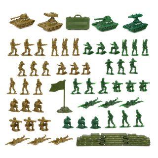 Набор Военный, солдаты 48 шт., техника 4 шт., игровая карта, аксессуары, пакет