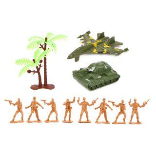 Набор Военный, солдаты, танк, самолет