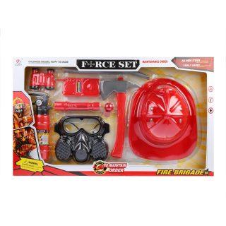 Игр.набор Пожарный, 8 предметов, коробка