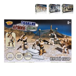 Игр.набор Спецназ, деталей 152/106/139, в ассорт., коробка