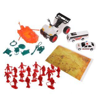 Игровой набор Спасатели, техника 4 шт., фигурки 16 шт., аксессуары 8 шт., игровая карта, пакет