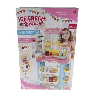 Игровой набор Магазин Мороженого, в компл.21 предм.,свет, звук, эл.пит.АА*2шт. в компл.не вх.,  кор.