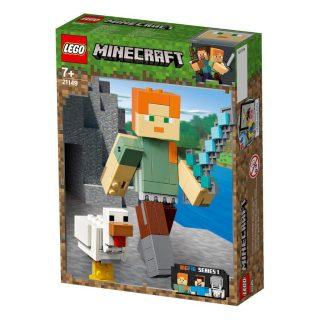 Констр-р LEGO Minecraft Большие фигурки, Алекс с цыплёнком