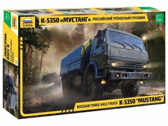 """Модель  Российский трехосный грузовик К-5350 """"Мустанг"""""""