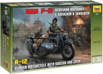 Модель Немец. мотоцикл ВMW R12 c коляской