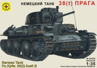 Модель немецкий танк 38(t) Прага,1:35