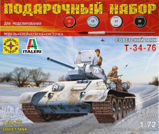 Модель Советский танк Т-34-76  1:72