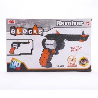 Конструктор 3D, Револьвер, деталей 343 шт.
